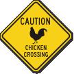 Diamond Crossing Sign