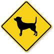 Chihuahua Symbol Guard Dog Sign