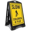 Children Cycling Sidewalk Sign Kit