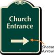 Church Entrance At Right Signature Sign