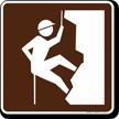 Climbing (Rock) Symbol Sign For Campsite
