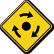 Clockwise Roundabout Symbol