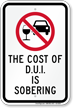 Cost Of D.U.I Is Sobering Sign