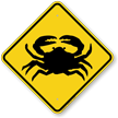 Crab Crossing Sign