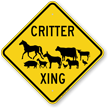 Critter Xing Animal Crossing Sign