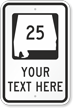Custom Alabama Highway Sign
