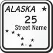 Custom Alaska Highway Sign