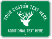Custom Welcome Antler Symbol Sign
