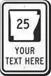 Custom Arkansas Highway Sign