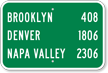 Custom Brooklyn Denver Napa Valley City Sign