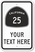 Custom California Highway Sign