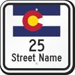 Custom Colorado Highway Sign