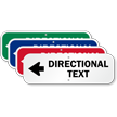 Directional Text - Left Arrow Custom Sign