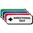 Directional Text - Left Arrow Custom Sign