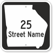 Custom Georgia Highway Sign