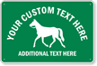 Custom Animal Crossing Sign with Horse Graphic