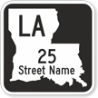 Custom Louisiana Highway Sign