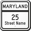 Custom Maryland Highway Sign