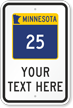 Custom Minnesota Highway Sign