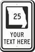 Custom Missouri Highway Sign