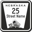Custom Nebraska Highway Sign