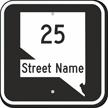 Custom Nevada Highway Sign