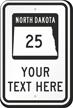 Custom North Dakota Highway Sign
