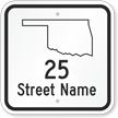Custom Oklahoma Highway Sign