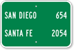 Custom San Diego Santa Fe City Sign