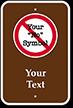 Custom Sign - Add Own No Symbol Text