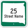 Custom South Dakota Highway Sign
