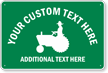 Custom Crossing Sign with Tractor Graphic