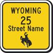 Custom Wyoming Highway Sign