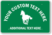 Customized Animal Crossing Horse Sign