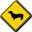 Dachshund Symbol Guard Dog Sign