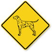 Dalmatian Symbol Guard Dog Sign