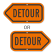 Detour Directional Sign