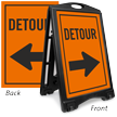 Detour Sidewalk Sign Kit