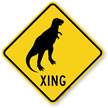 Dinosaur Xing Crossing Sign