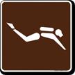 Diving (Scuba) Symbol Sign For Campsite