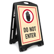 Do Not Enter A-Frame Sidewalk Sign Kit