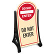 Do Not Enter Sidewalk Sign Kit