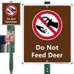 Do Not Feed Deer Lawnboss Sign