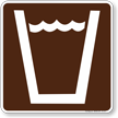 Drinking Water Symbol Sign For Campsite