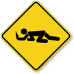 Drunk Student Crossing Symbol Sign
