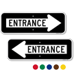 Entrance Directional Parking Sign
