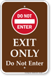 Campground Traffic Sign