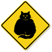 Fat-Cat Symbol Guard Cat Sign