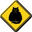 Fat-Cat Symbol Guard Cat Sign