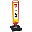 FlexPost Yield Pedestrian Crosswalk Portable